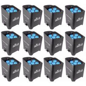 Chauvet Freedom Par Tri-6 LED PAR Lighting Fixture 12-Pack