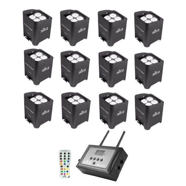 Chauvet Freedom Par Quad-4 LED Lighting Fixture 12-Pack w/FlareCon Air