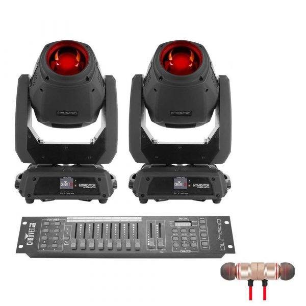 2 x CHAUVET Intimidator Hybrid 140SR and Obey 10 with Wireless Earbuds