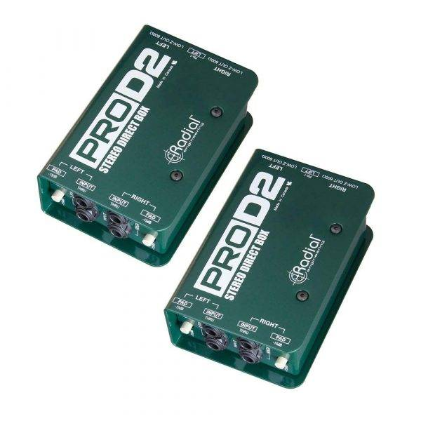 Radial Engineering ProD2 Stereo Passive Direct Box Pair (2)