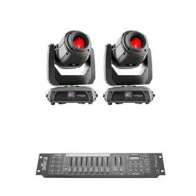 2 x Chauvet Intimidator Spot 375Z IRC Moving-head Spot with Obey 10