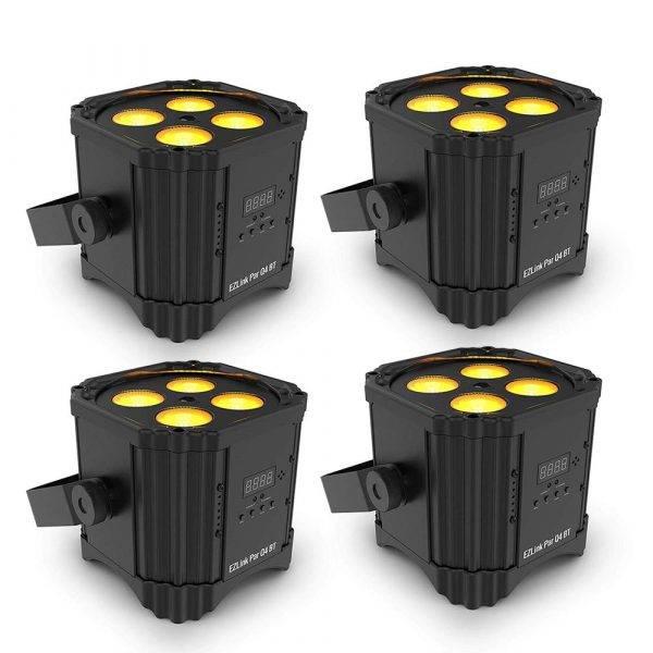 Chauvet DJ EZLINK PAR Q4 BT Wireless RGBA LED Par 4 Pack