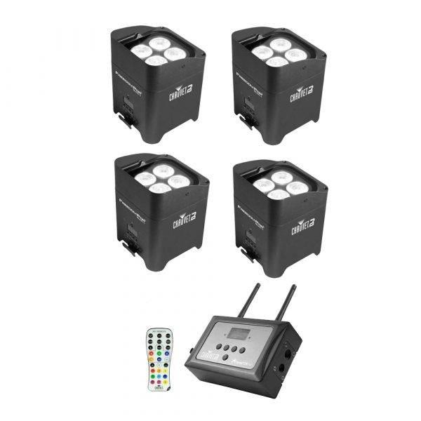 Chauvet Freedom Par Quad-4 LED Lighting Fixture 4-Pack w/FlareCon Air