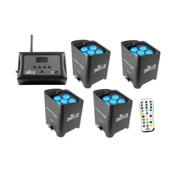 Chauvet Freedom Par Tri-6 LED Light 4-Pack w/FlareCon Air