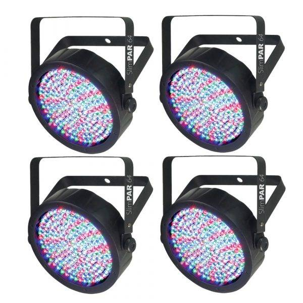 Chauvet SlimPAR 64 LED PAR Wash Light 4-Pack