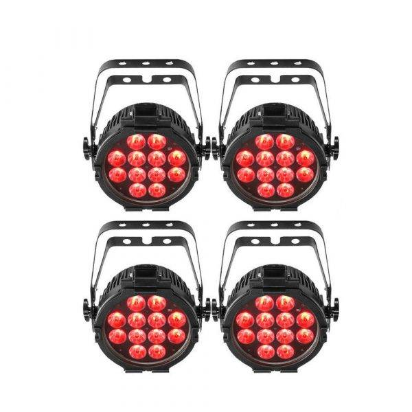 Chauvet SlimPAR Pro Q USB Wireless DMX RGBA LED Wash Light 4-Pack