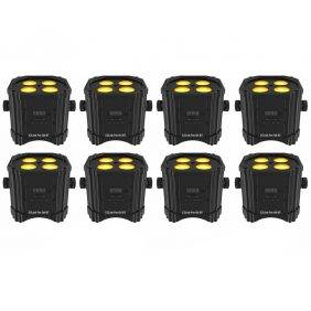 Chauvet DJ EZLink Par Q4BT RGBA LED PAR Light with Bluetooth (8 Pack)