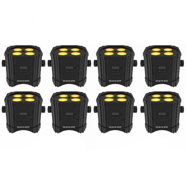 Chauvet DJ EZLINK PAR Q4 BT RGBA LED PAR Light with Bluetooth 8 Pack