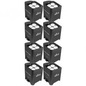 Chauvet Freedom Par Quad-4 LED Lighting Fixture 8-Pack