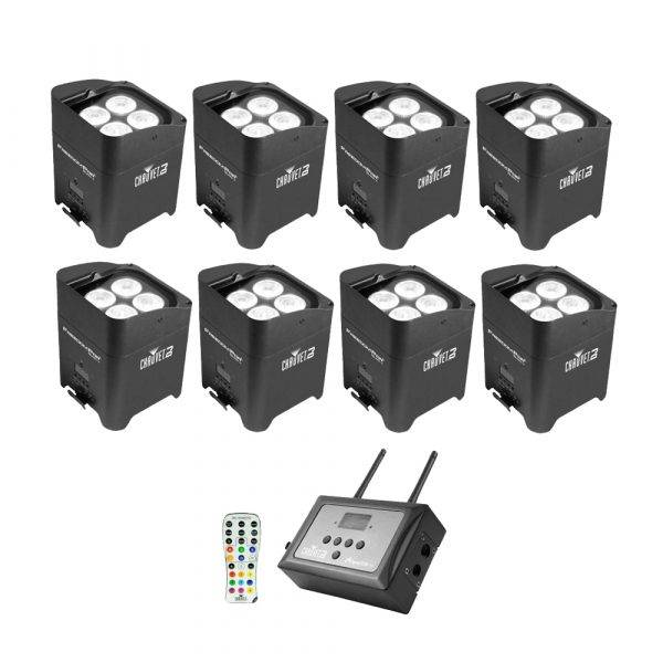 Chauvet Freedom Par Quad-4 LED Lighting Fixture 8-Pack w/FlareCon Air