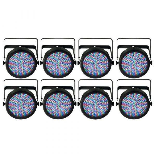 Chauvet SlimPAR 64 LED PAR Wash Light 8-Pack