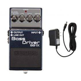 Boss BB-1X Bass Driver with Pig Power 9V DC 1000ma Power Supply