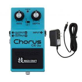 Boss CE-2W Chorus Waza Craft with Pig Power 9V DC 1000ma Power Supply