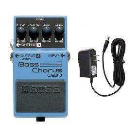 Boss CEB-3 Bass Chorus with Pig Power 9V DC 1000ma Power Supply