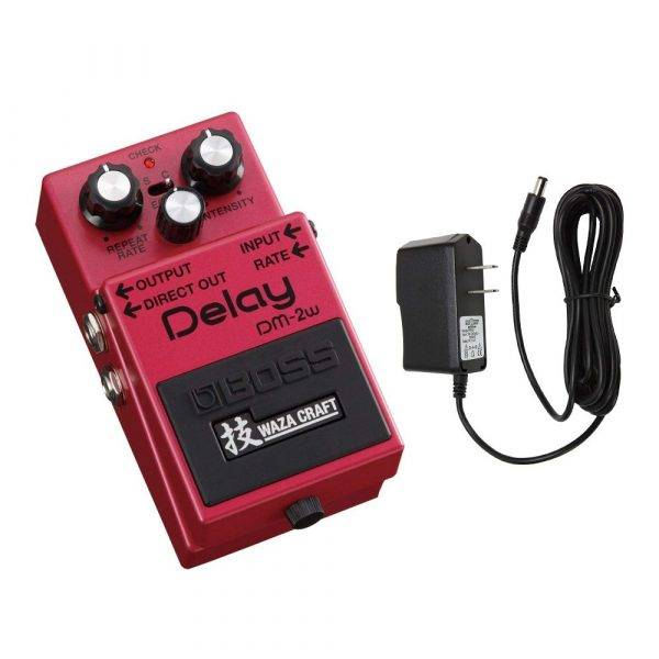 Boss DM-2W Delay Pedal with Pig Power 9V DC 1000ma Power Supply