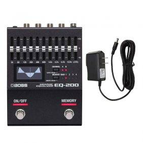Boss EQ-200 Graphic Equalizer with Pig Power 9V DC 1000ma Power Supply