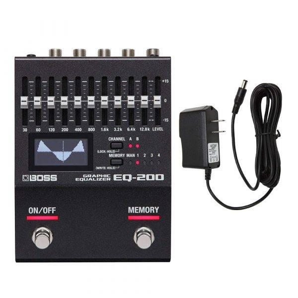 Boss EQ-200 Graphic Equalizer with Pig Power 9V DC 1000ma Power Supply