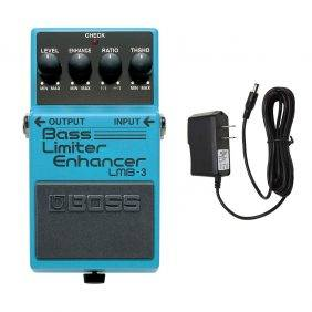 Boss LMB-3 Bass Limiter Enhancer with PigHog PP9V Pig Power 9V DC 1000ma Power Supply