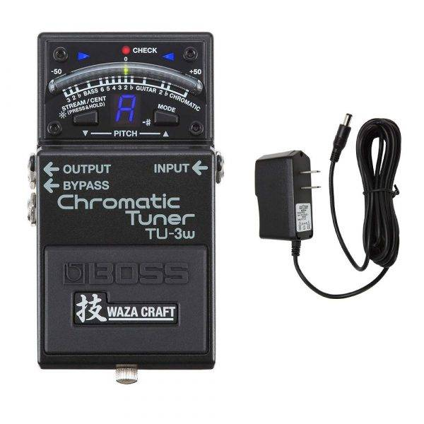 Boss TU-3W Chromatic Tuner with Pig Power 9V DC 1000ma Power Supply