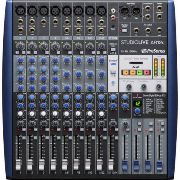 PreSonus StudioLive AR12c 12-Channel Hybrid Digital/Analog Mixer
