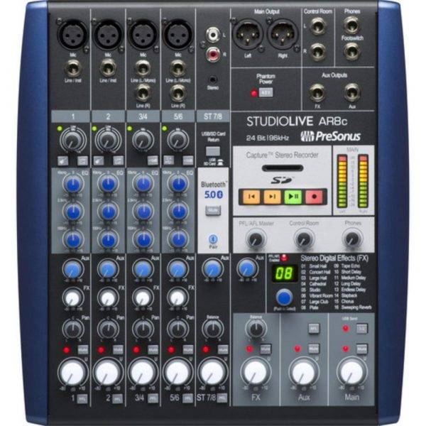 PreSonus StudioLive AR8c USB Type-C 8-Channel Analog Mixer