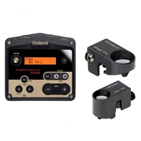 Roland TM2 Trigger Module and Roland RT-30K-RT-30H Drum Trigger Bundle