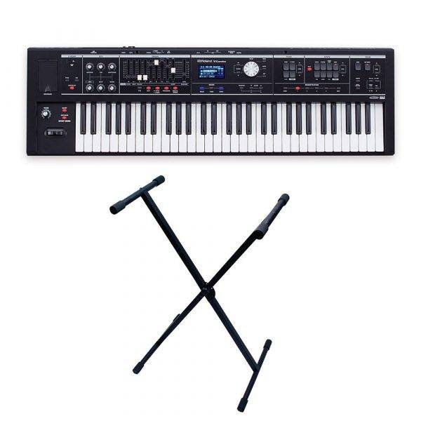Roland V-Combo VR-09-B with Gator Rok-It X Stand