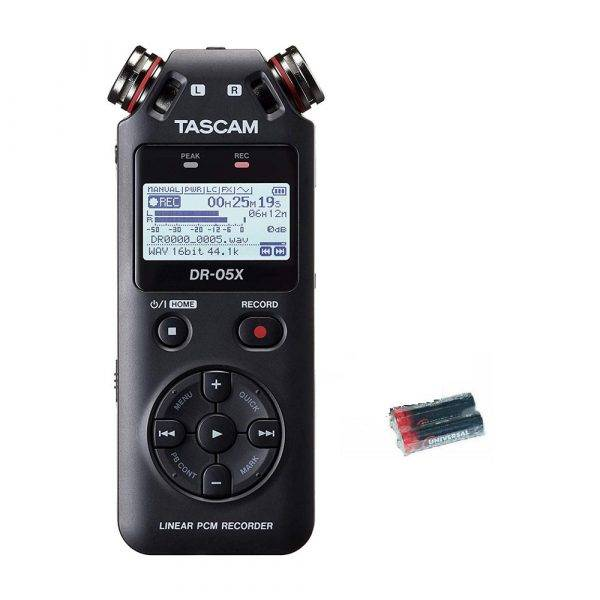 Tascam DR-05X Handheld Recorder w/2 Universal Electronics AA Batteries