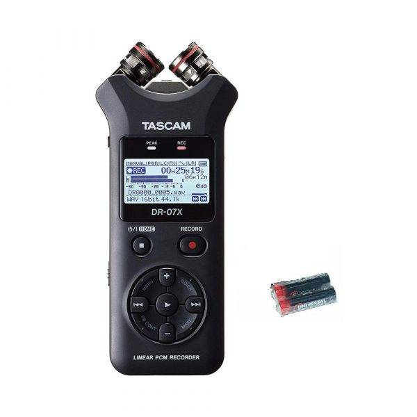 Tascam DR-07X Handheld Recorder w/2 Universal Electronics AA Batteries