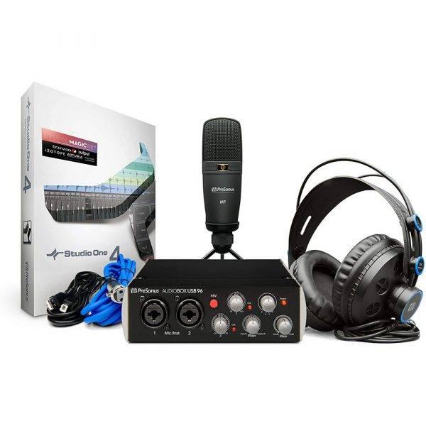 PreSonus AudioBox USB 96 Studio Hardware and Software Recording Kit (Black)
