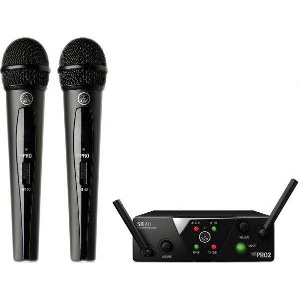 AKG WMS40 Mini2 Dual Wireless Vocal Set Wireless Mic System
