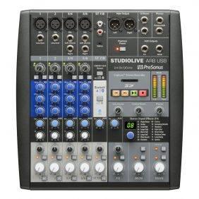 PreSonus StudioLive AR8 USB Hybrid Performance & Recording Mixer Used