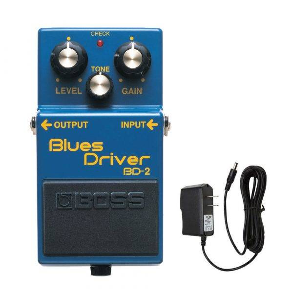 Boss BD-2 Blues Driver w/PigHog PigPower 9V DC 1000ma Power Supply