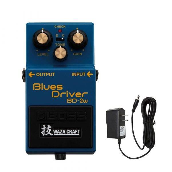 Boss BD-2W Blues Driver w/PigHog PigPower 9V 1000ma Power Supply
