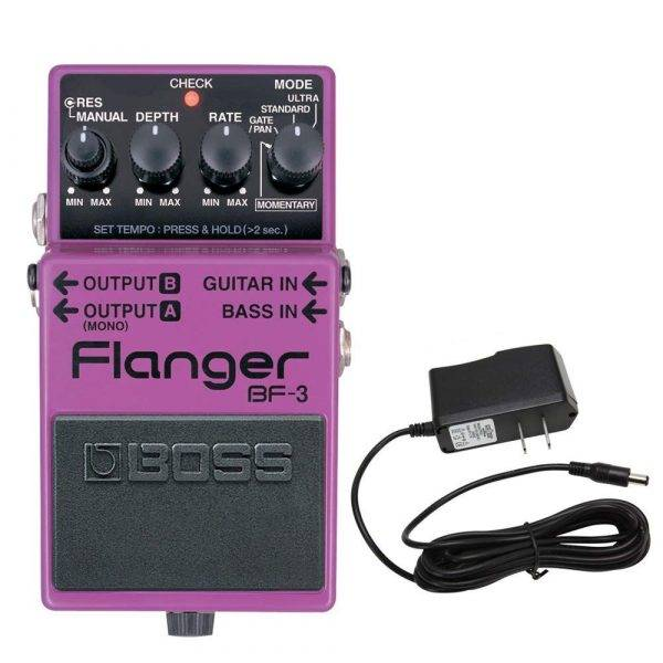 Boss BF-3 Flanger Pedal with PowerPig 9V DC 1000ma Power Supply