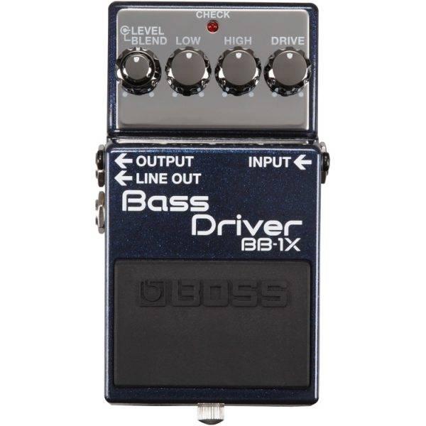 Boss BB-1X Bass Driver Bass Overdrive/Distortion Effects Pedal