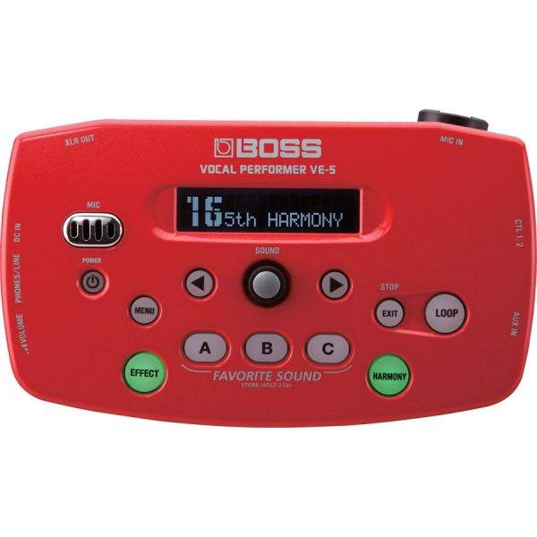 BOSS VE-5 Vocal Performer Effects Processor Red