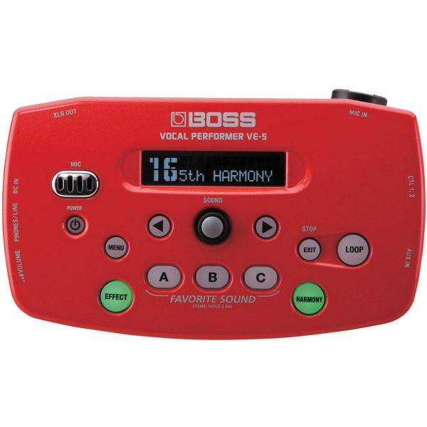 Boss VE-5 Vocal Performer Red & PigHog PP9V DC 1000ma Power Supply