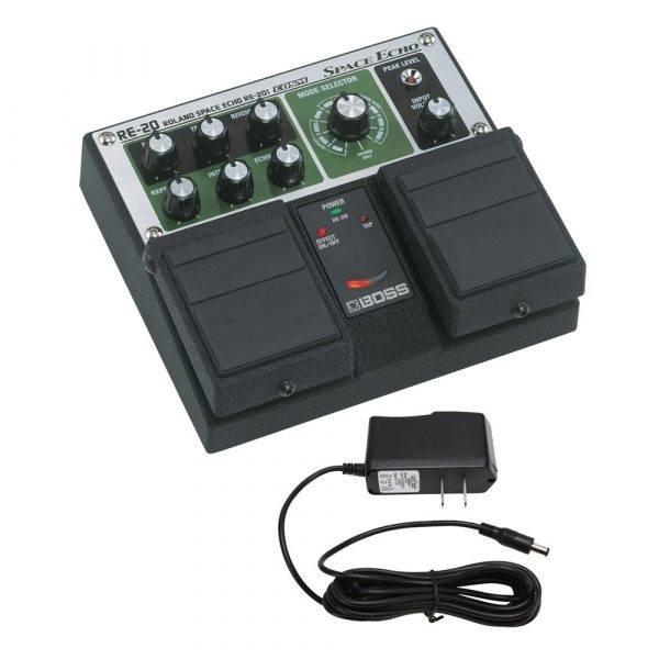 Boss RE-20 Space Echo & PigHog PigPower 9V DC 1000ma Power Supply