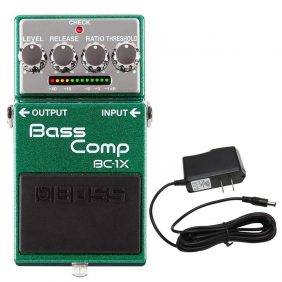 Boss BC-1X Bass Comp Pedal with PowerPig 9V DC 1000ma Power Supply