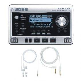 Boss Micro BR BR-80 with free BA-PC15 Earphones/Guitar Cable Set