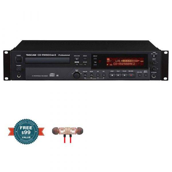 Tascam CD-RW900MKII CD Recorder/Player with Wireless Earbuds