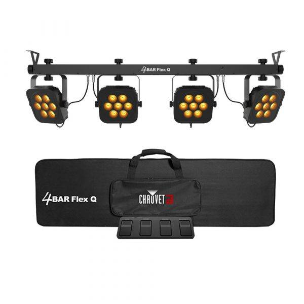 Chauvet 4BAR Flex Q RGBA LED Wash System with 4 Lights and Carry Bag