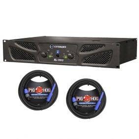 Crown XLi 3500 Power Amp & 2 Pig Hog 25ft SPKON to 1/4' Cables Bundle