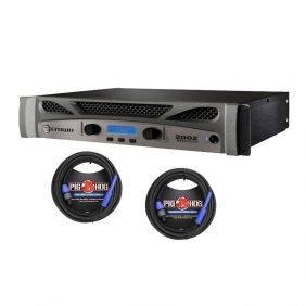 Crown XTi2002  Power Amp & 2 Pig Hog 25ft SPKON to 1/4' Cables Bundle