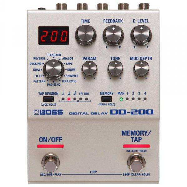 Boss DD-200 Digital Delay 200 Series Effects Pedal