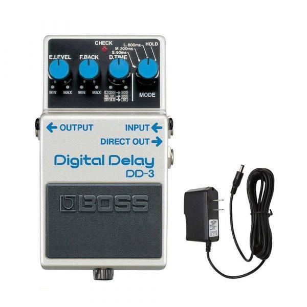 Boss DD-3 Digital Delay  w/PigHog PigPower 9V 1000ma Power Supply