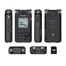 Tascam DR-100mkIII Linear PCM Recorder with EV Music 32gb Card