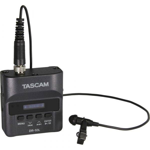 Tascam DR-10L Digital Audio Recorder with Lavalier Microphone