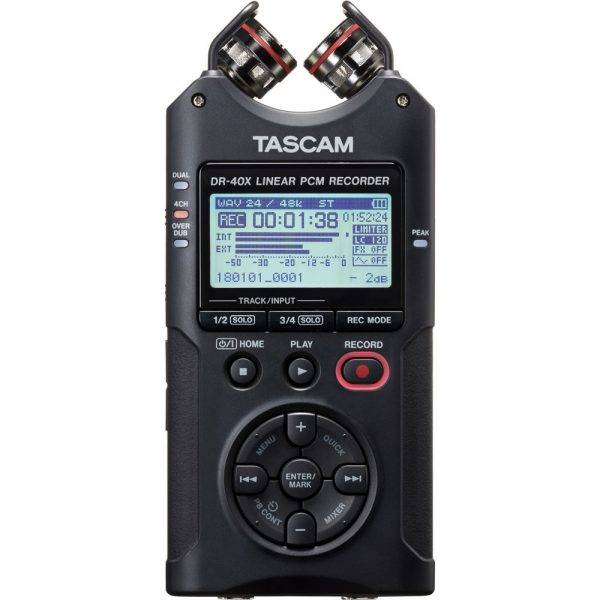 Tascam DR-40X 4-Track Digital Audio Recorder and USB Audio Interface